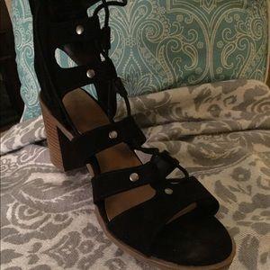 Gladiator Block Heel Sandals